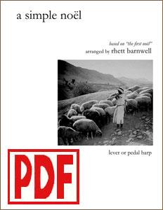 A Simple Noel arranged by Rhett Barnwell  PDF Download