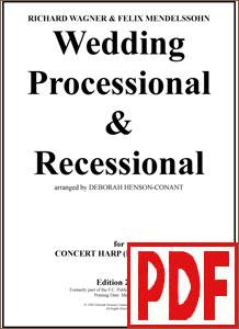 Wedding Processional & Recessional for pedal harp by Deborah Henson-Conant PDF Download