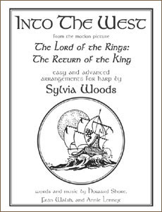 Into the West sheet music from The Lord of the Rings by Sylvia Woods