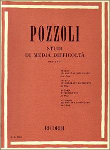 Studi di Media Difficolta book for pedal harp by Pozzoli