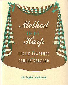 Method for the Harp book for pedal harp by Lawrence / Salzedo