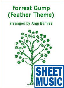 Feather Theme from <i>Forrest Gump</i> <span class='blue'>Sheet Music</span> arranged by Angi Bemiss